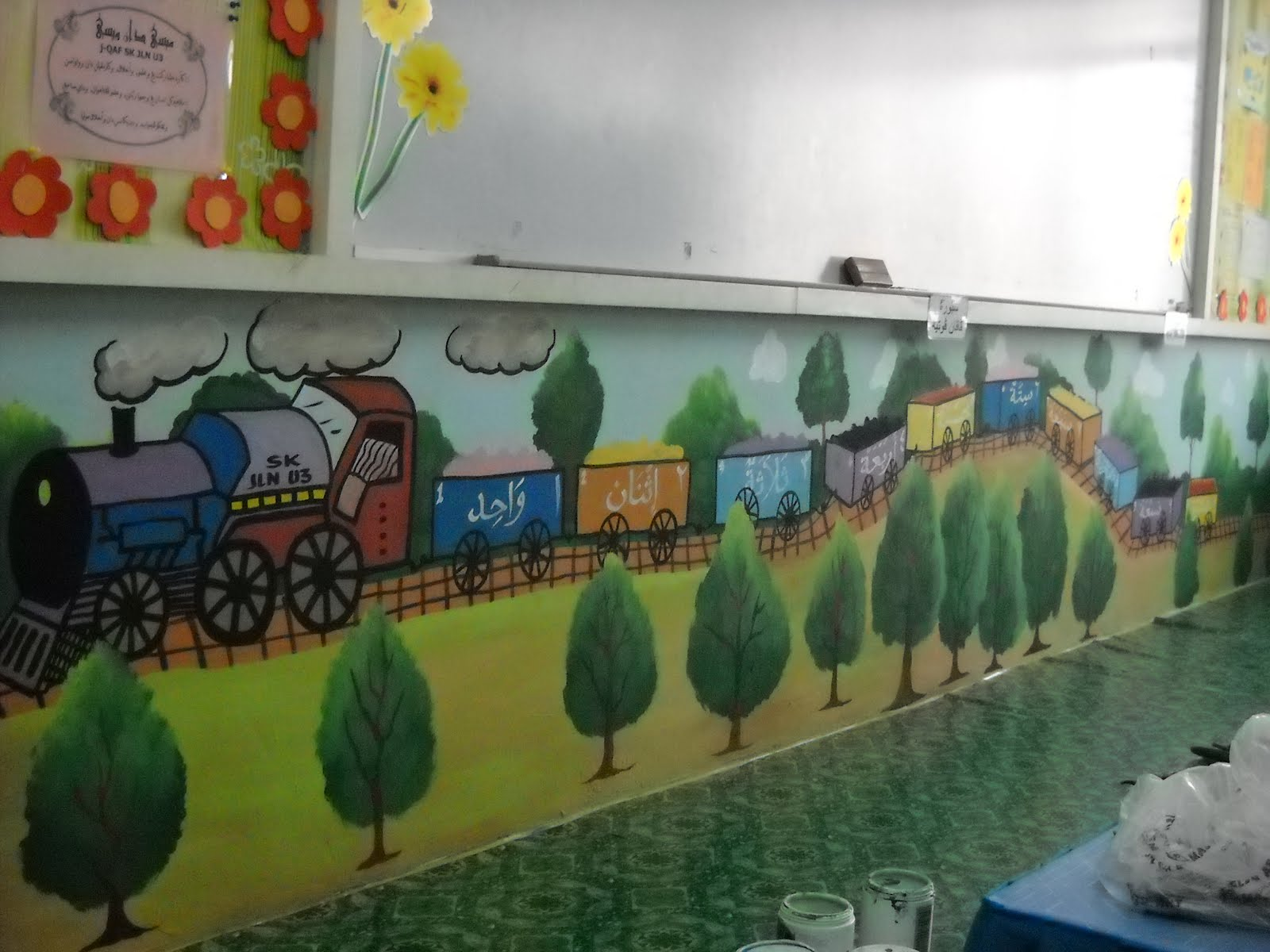 Pelukis mural shah alam kelas jaqof sk u3 subang for Mural sekolah rendah