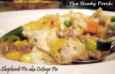 Shepherd's Pie aka Cottage Pie mashed potatoes gravy vegetables