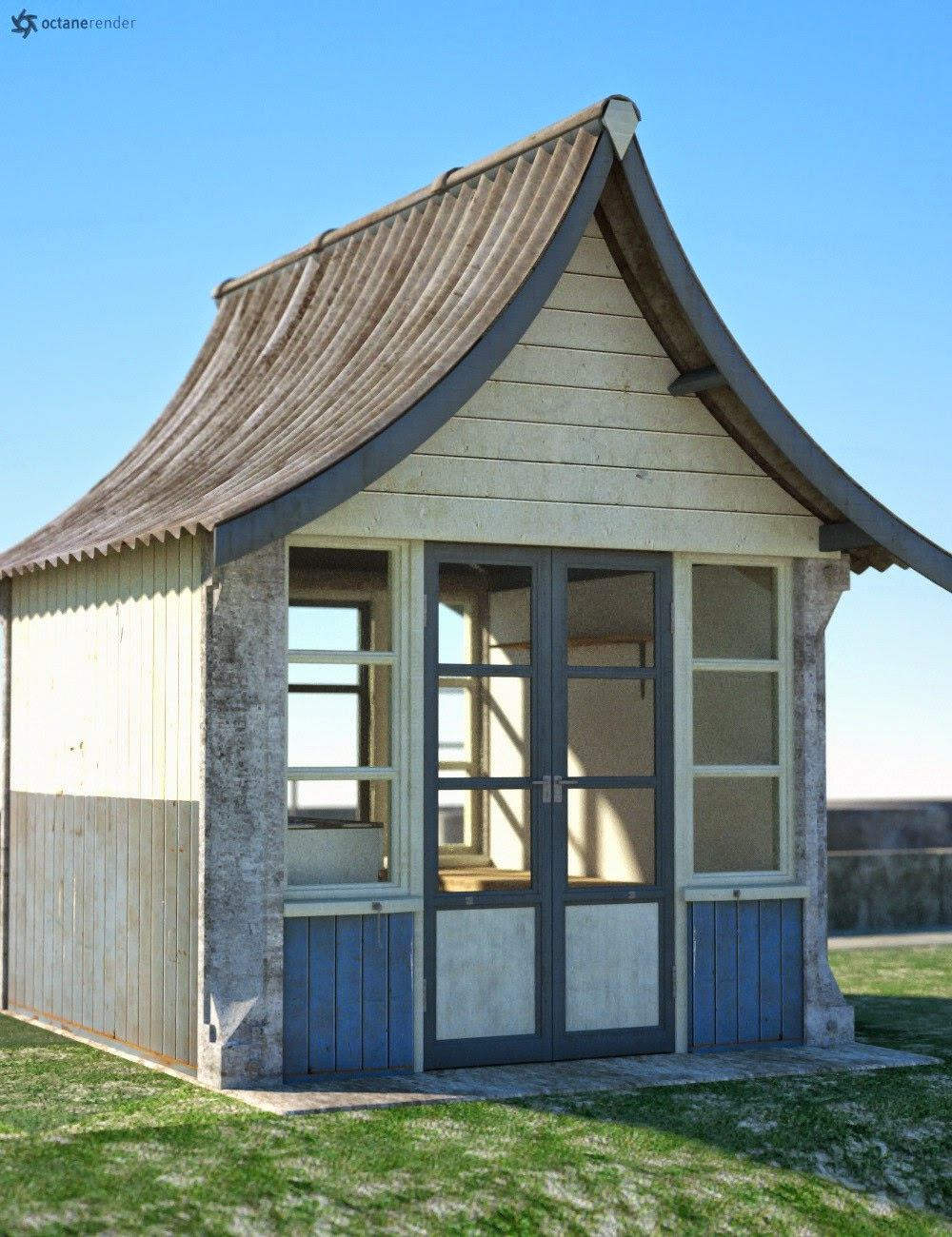 Download daz studio 3 for free daz 3d by the seaside for Model beach huts