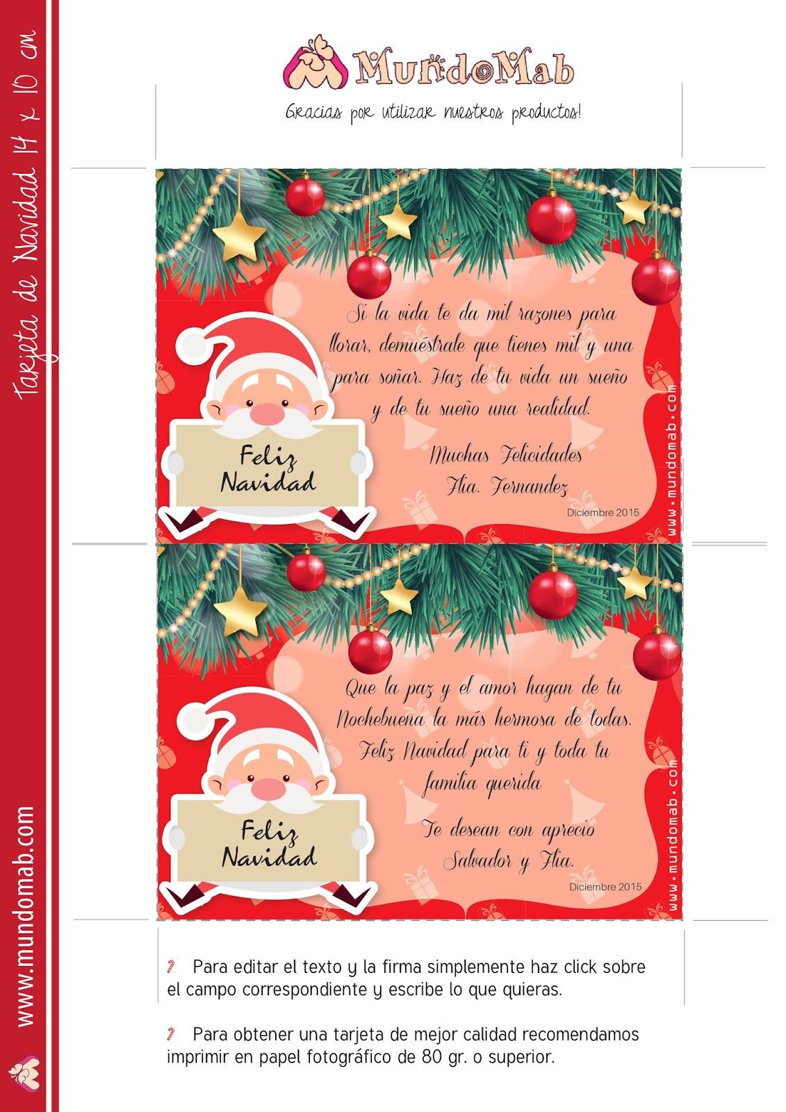 5 tarjetas navide as para editar imprimir y regalar