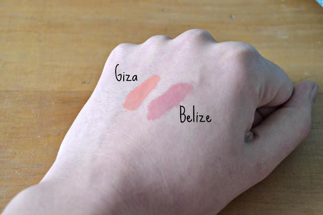 nars lipgloss giza belize swatch