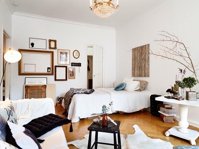viejas maderas como cabecero de cama