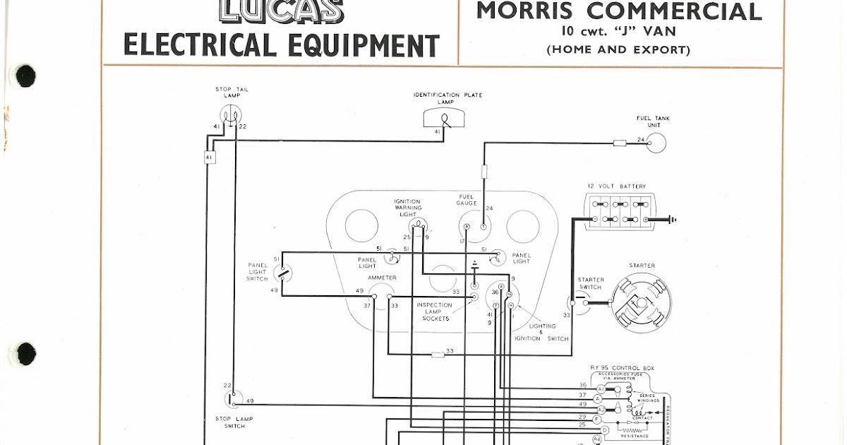 Lucas Console Wiring Diagram - otoring.com