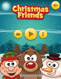 Рождественские друзья -  логическая игра