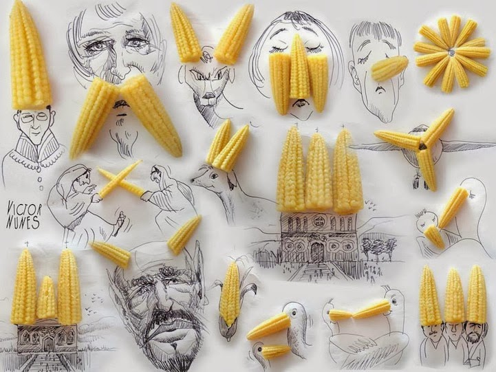 Uber Cute: Line Drawings Transform Everyday Objects Into Quirky Scenes