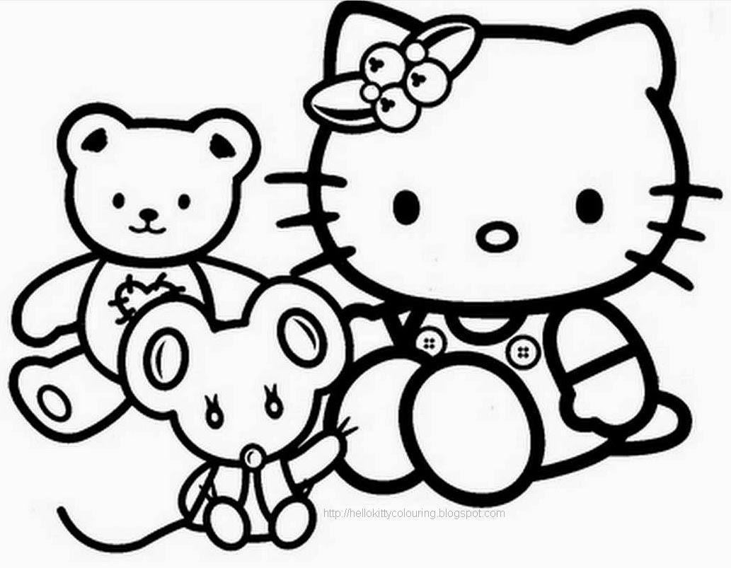 10 Mewarnai Gambar Hello Kitty