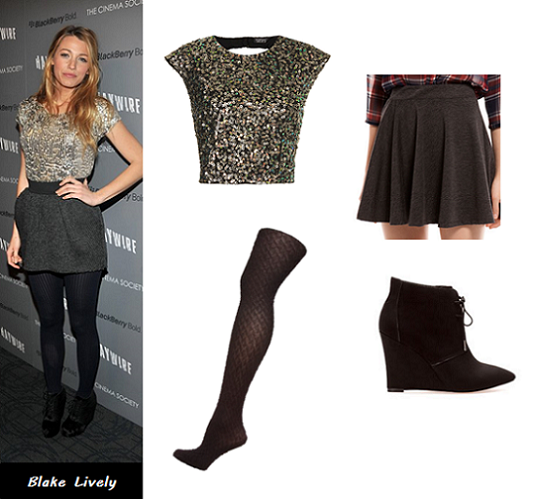 sequin top, Blake Lively