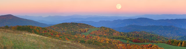 Sunset over Max Patch in autumn