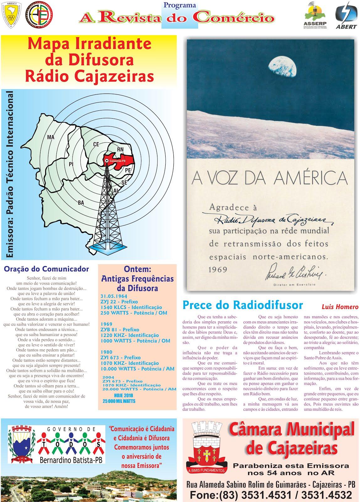 A RÁDIO DIFUSORA DE CAJAZEIRAS PB  EMISSORA DE PADRÃO TÉCNICO INTERNACIONAL