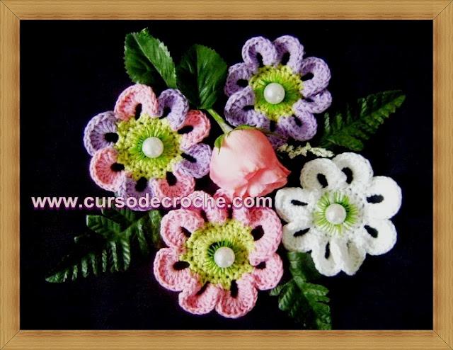 flores curso dvd 5 volumes loja curso de croche frete gratis edinir-croche aprender croche