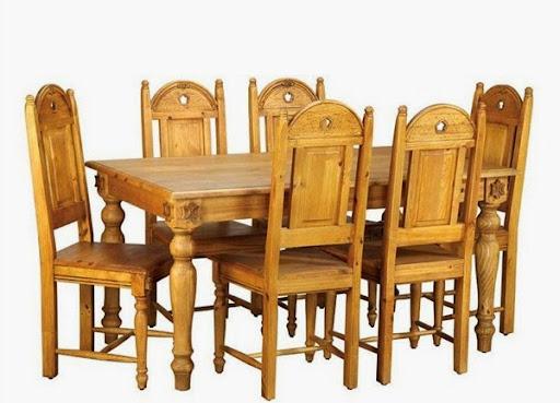 Meja makan kayu jati kuno dan antik memanjang 6kursi