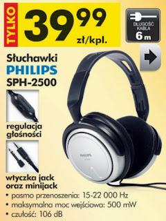 Słuchawki Philips SPH-2500 z Biedronki ulotka