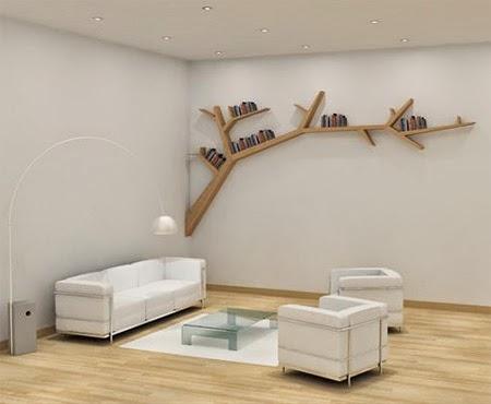 Bookshelf Kreatif Berbentuk Cabang Pohon by Olivier Dolle [lensaglobe.com]