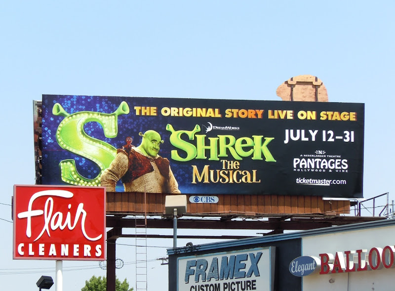 Shrek Musical billboard