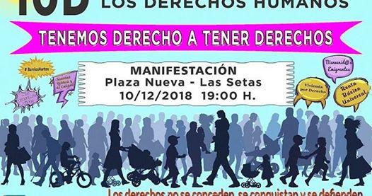 MANIFESTACIÓN 10D DÍA INTERNACIONAL DE LOS DERECHOS HUMANOS.
