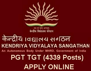 KVS Recruitment 2015 of 4339 Teaching and Non Teaching Posts, kvsangathan.nic.in 2015 Notification, Kendriya Vidyalaya Sangathan PGT TGT Recruitment 2015 Online before 22 June 2015. KVS PGT Recruitment 2015 Apply Online