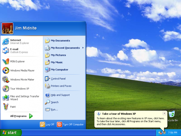 How Can No icon And No Taskbar In Windows XP
