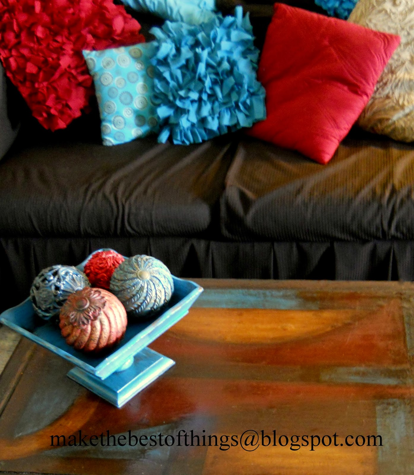 Make The Best of Things Painted Decor Balls For My Coffee Table