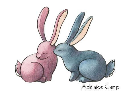 petits lapins mignons