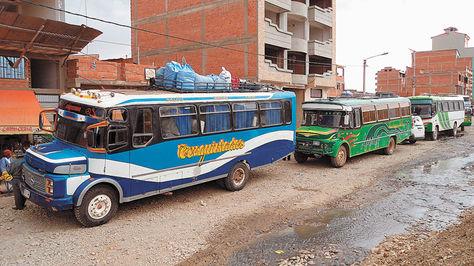 Tarifas de transporte interprovincial en La Paz