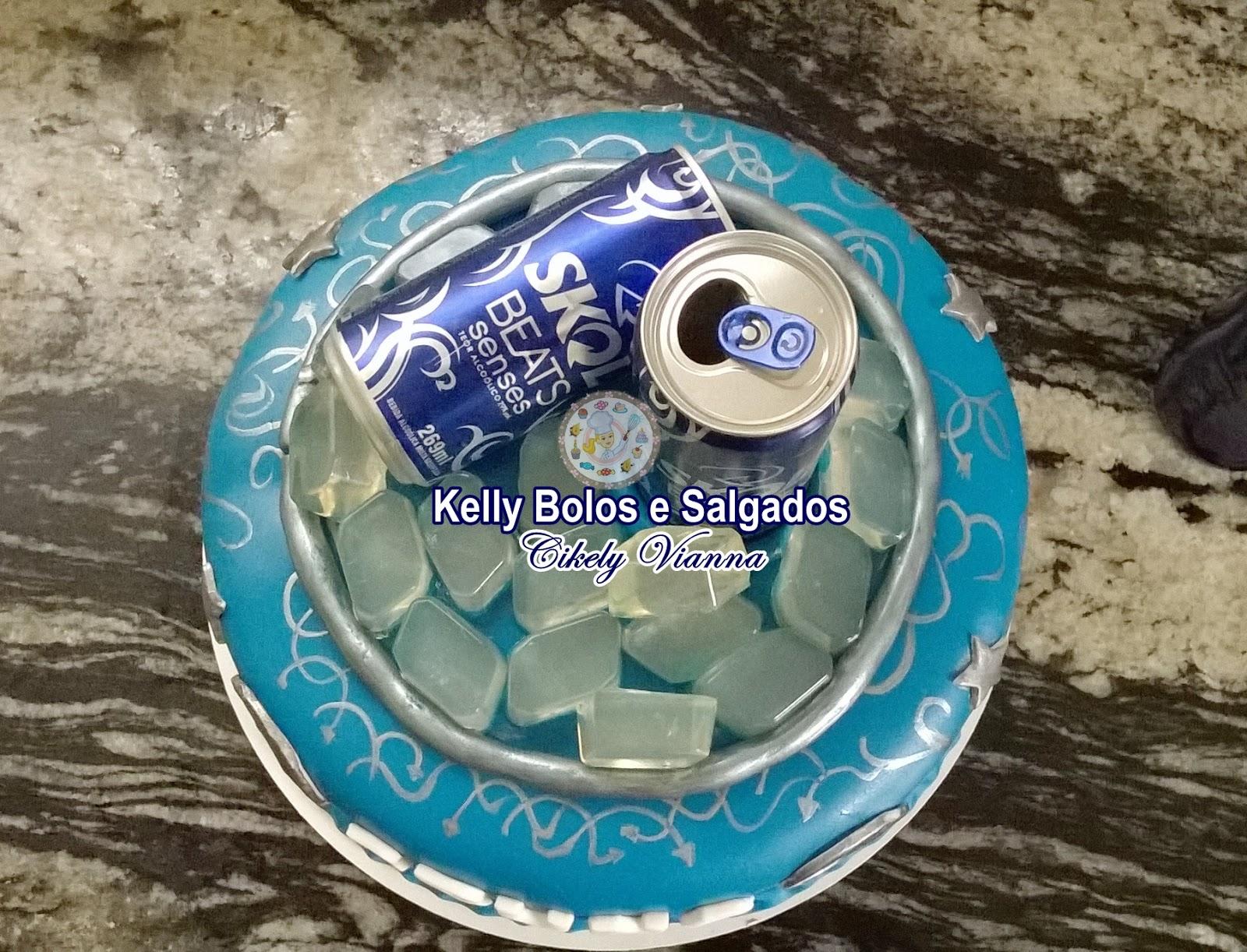 Populares Kelly Bolos e Salgados: Bolo Cerveja Skol Beats WV28