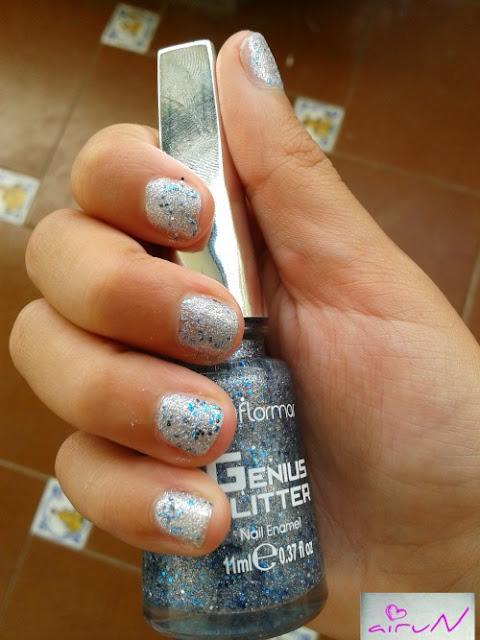 genius glitter flormar plata