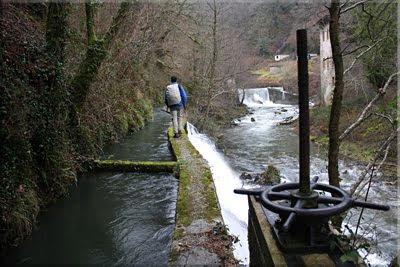 El último tramo de canal antes de llegar a la Presa de Ugalde