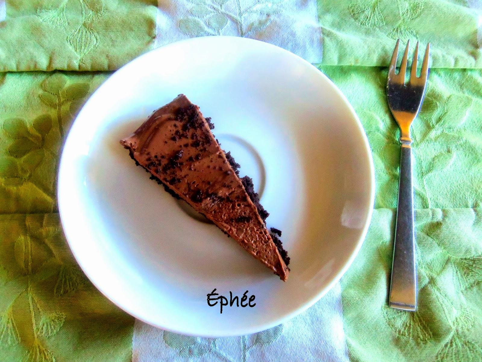 la meilleure tarte au chocolat sans cuisson. Black Bedroom Furniture Sets. Home Design Ideas