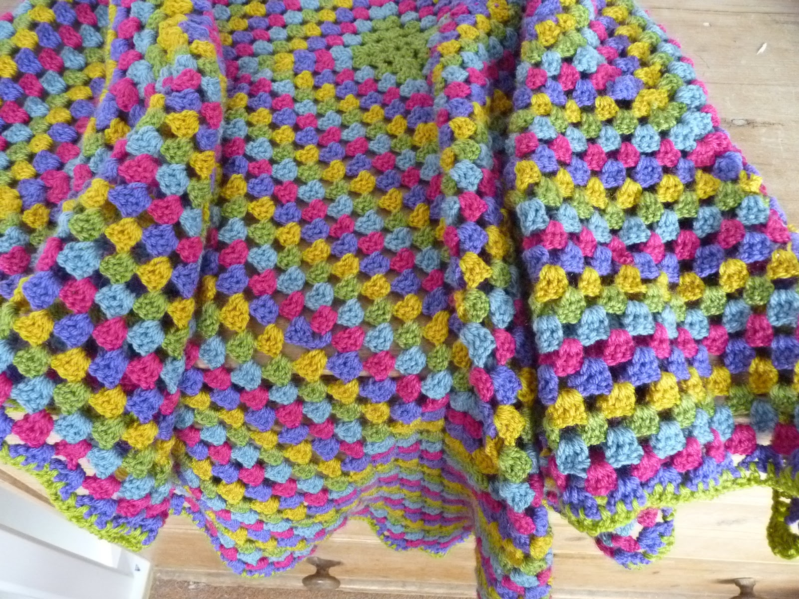 Crocheting Uses : fine linen and purple: crochet blanket