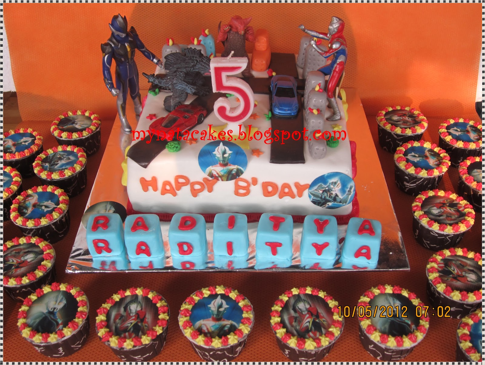 Mynata Cakes ultraman birthday cake for Raditya