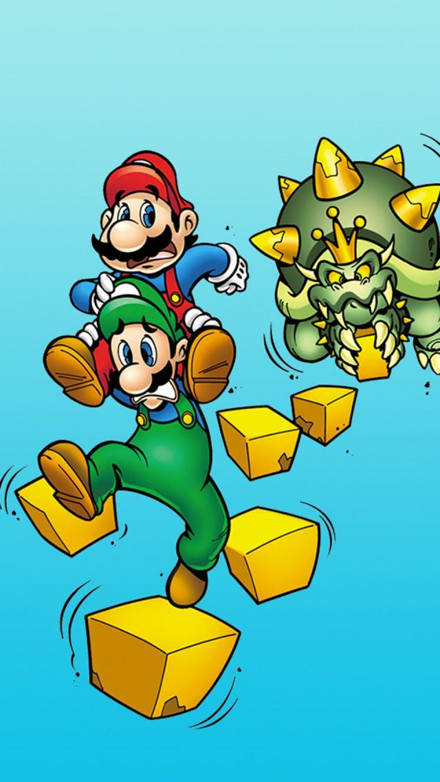 Super mario brothers iphone 5 wallpaper iphone 5 wallpapers gallery super mario brothers mario and luigi wallpaper for iphone 5 altavistaventures Gallery