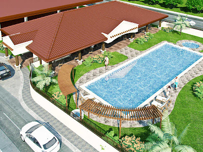 Bayswater Subdivision Mactan Cebu House and Lot For Sale - Clubhouse and Swimming Pool Amenities