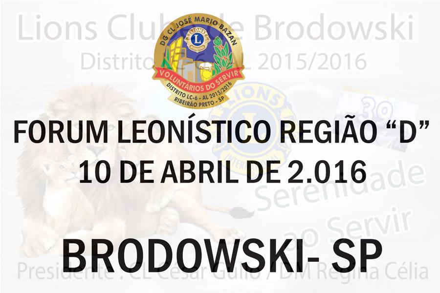 FORUM LEONISTICO D 2015/2016