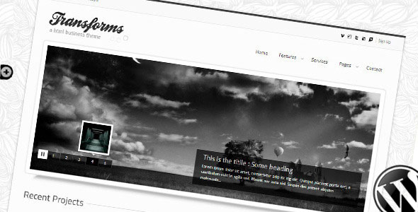Image for Transform Theme by ThemeForest