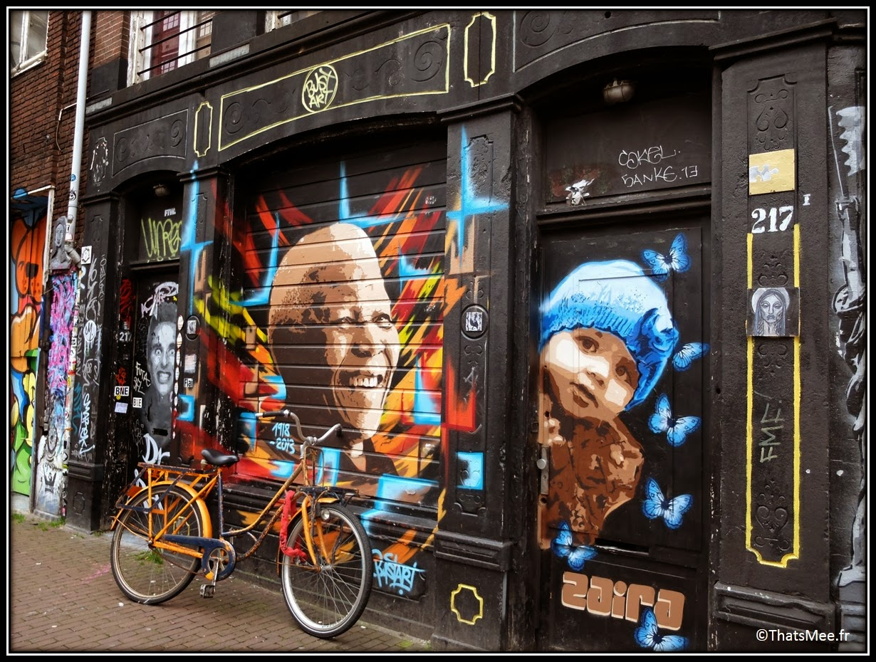 madiba street art Nelson Mandela hommage tribute painting peinture Amsterdam