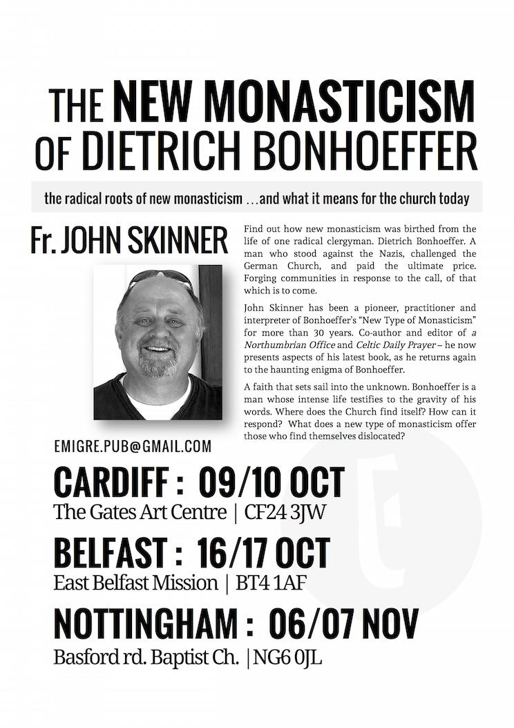 new monasticism book tour