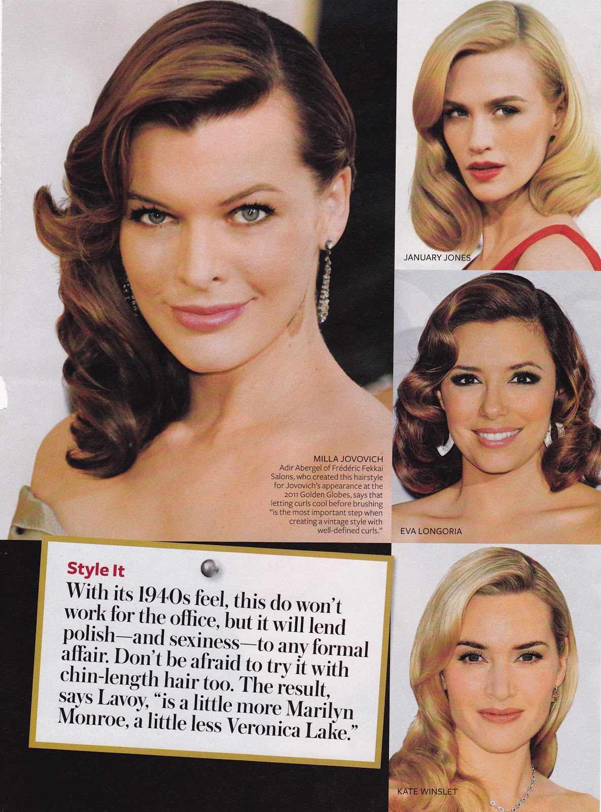 Veronica Lake-inspired Hair is InStyle   GlamAmor