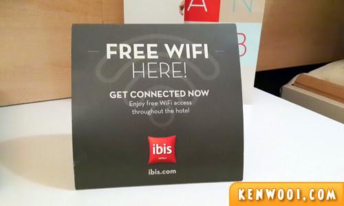 free wifi ibis hotel