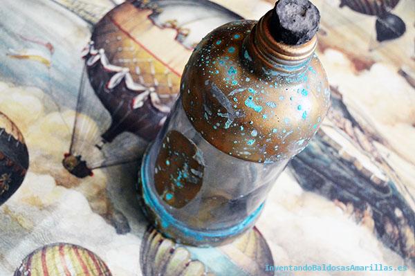 Tutorial Oxidando una botella de cristal