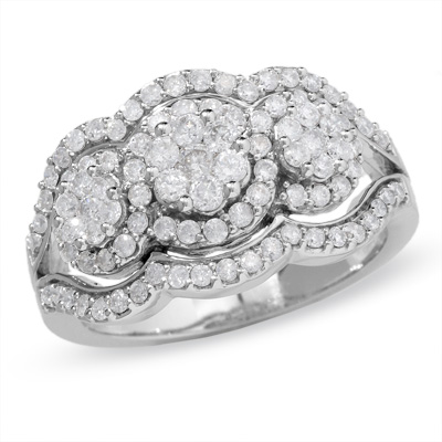 White Gold Jewelry with Full Crystal