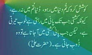 Quotes Hazrat Ali Golden Words Aqwal Urdu