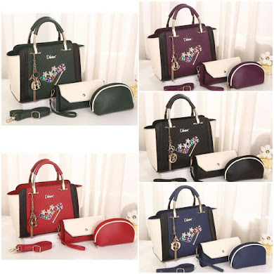 DiOr DeSiGnEr BaG - BLACK , RED , PURPLE , NAVY BLUE , ARMY GREEN