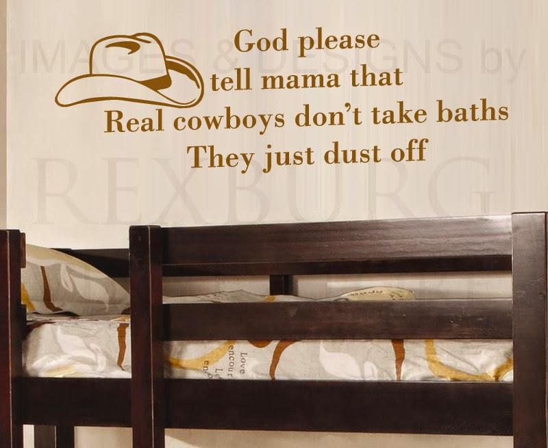Cowboy Quotes Scraps | Glitters