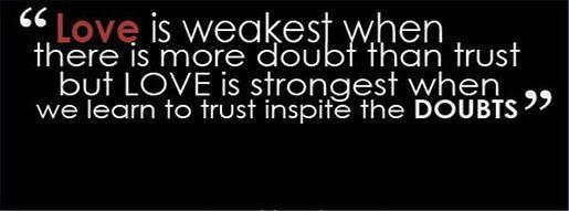 quotation about love and trust in english in sms text