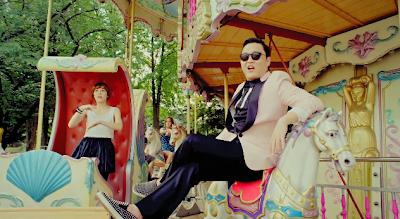 Psy Gangnam Style merry go round horses