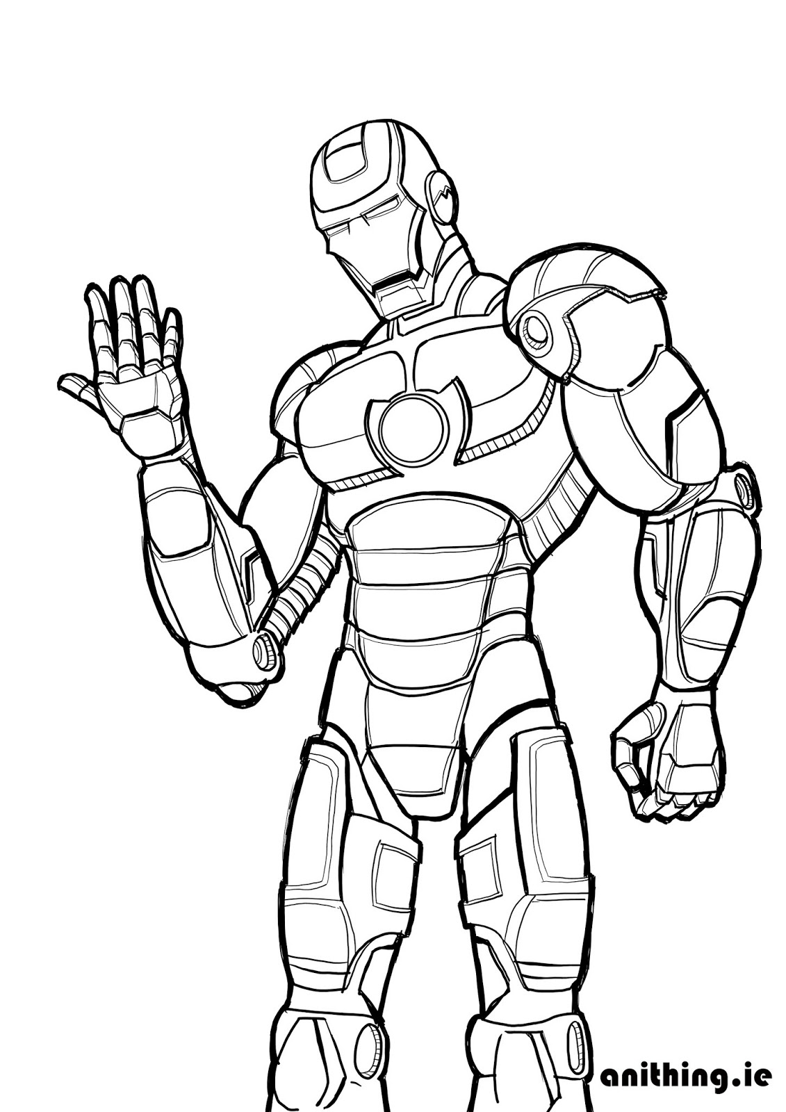 Free Coloring Pages Of Iron Spider Man