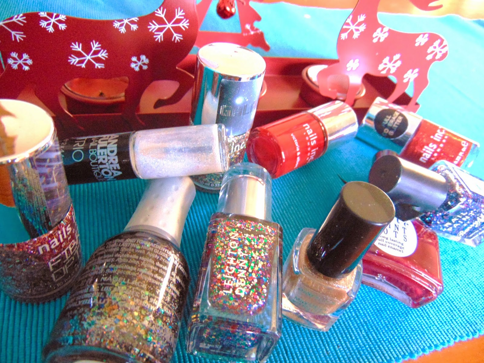 Top ten christmas nail varnish 2014 sparkle glitter