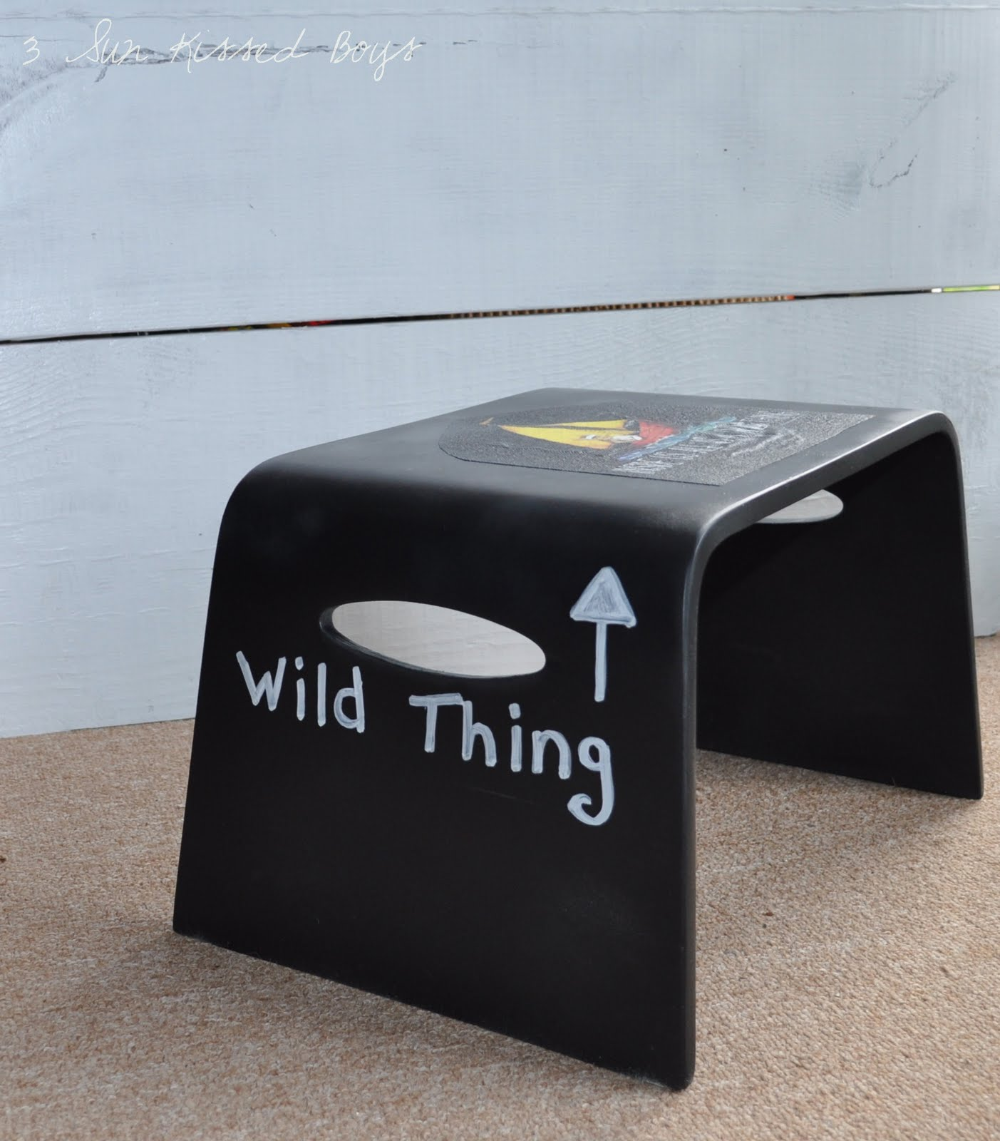 3 Sun Kissed Boys: A Wild Thing Step Stool