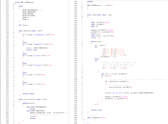 Código do leitor JSON