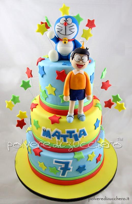 doraemon e nobita cake & cupcakes: la torta e i cupcakes per il mio bimbo
